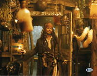 JOHNNY DEPP SIGNED 11X14 PHOTO AUTOGRAPH PIRATES OF THE CARIBBEAN COA BECKETT I