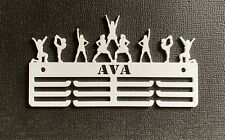 Thick 5mm Acrylic Personalised  Cheerleading 3tier Medal Hanger / holder
