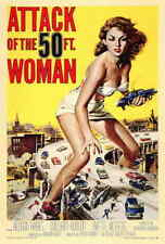 Attack Of The 50 Foot Woman (1955) Style-A Vintage 50s Sci-fi Movie Poster 27x40