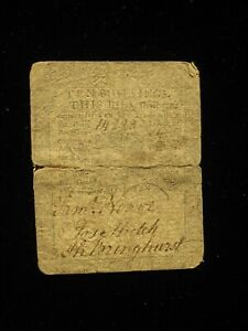 US Colonial/State Currency - 10 shillings - June 18, 1764 ** PA-124 ** (CC-259)