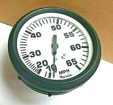 Faria Boat Speedometer 0-65 MPH Gauge SE9534B Euro Black White 3-1/4 Inch body