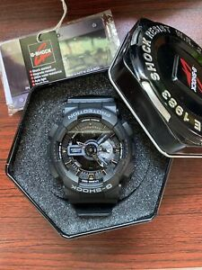 Casio G-Shock Analogue/Digital Mens Military Black Watch GA110-1B GA-110-1BDR SU