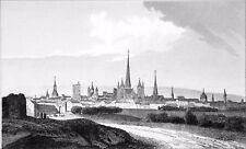 BOURGOGNE (CÔTE-d'OR) - DIJON, VILLE aux CENT CLOCHERS - Gravure du 19e siècle