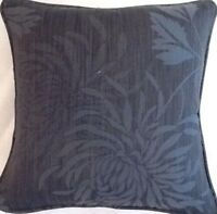 A 16 Inch Laura Ashley cushion Cover In Chrysanthemum Charcoal fabric