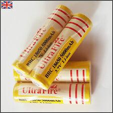 4pcs x Ultrafire 18650 5000mAh 3.7V Rechargeable Li-ion Battery New