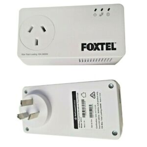 2x Foxtel NP511 Wireless 500Mpbs Powerline Adapters Foxtel