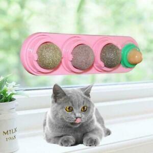 4pcs Catnip Ball Set Cat Natural Snacks Licking Nutrition Ball Toy T5C2 I1P2