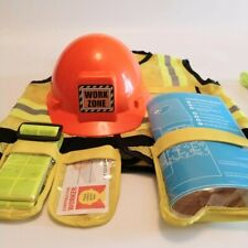 Melissa & Doug Let's Pretend Construction Worker Dress Up Costume Age 3-6 Years
