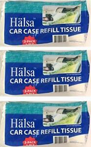 Tempo Auto Visor Tissue Refills- 3 Bags Total of 9 Refills