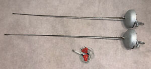 Lot of 2 Allstar Left-handed Pistol Grip Epee Size 5 EUC Grip Ages Fencing Wire