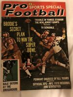 1971 Pro Football SAN FRANCISCO 49ers JOHN BRODIE AFL NFL Prev WILLARD Sayers