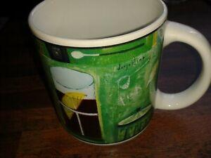 RARE HARD TO FIND IN UK NAYLOR FAULKNER 2004 ART GROUP GLOBAL CAFE ESPRESSO MUG