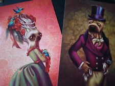 Lacombe Benjamin Dogs Print Surreal Low Brow Art Quality Print Postcards