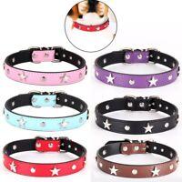 Dog Cat Collar Puppy Kitten Collars Pack Pink Blue Black Red Studs Collar Small