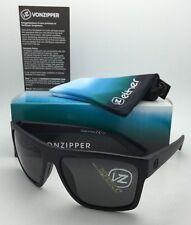 Vonzipper Dipstick Rectangular Sunglasses Black Satin/grey 60 Mm