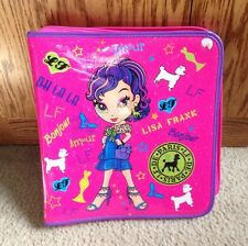 "Lisa Frank Paris Puppy Dogs Pink, 3 Ring Zippered 2"" Binder, GUC!"