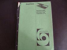 Original Service Manual Bang & Olufsen Beocenter 4000 Beocenter 2100