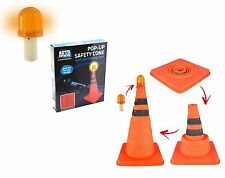 40CM Auto Bright Orange Popup Traffic Safety Emergency Cone w/ LED Beacon Light