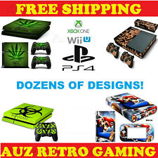 SKIN DECAL STICKER For PS4 PRO SLIM XBOX ONE Wii U Console Controller