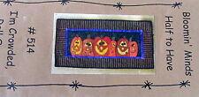 Bloomin Minds Applique quilt tablerunner Craft Pattern halloween Pumpkin Crowded