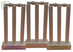 Miniature Mini Cricket Stumps and Bails Set : 20cm High : Desktop : Office