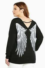 NEW Torrid Plus Size 5X ANGEL WING Tattoo Punk Gothic KNIT Pullover Top