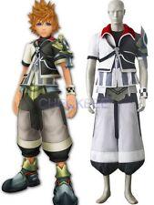 Kingdom Hearts Ventus Black And White Uniform Cloth Leather Cosplay Costume