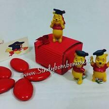 BOMBONIERE bomboniera LAUREA economiche Walt Disney confezionate confetti rossi