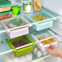 Kitchen Slide Freezer Fridge Space Saver Shelf Holder Storage Rack Box S4W0