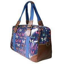 Miss Lulu Women's Stylish Owl Print Oilcloth Travel Bag Weekend Bag School Ba...