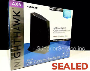 New NETGEAR AX2700 WiFi6 Cable Modem Router DOCSIS 3.1 2.7Gbps MSRP $349.99