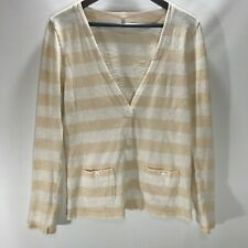 J Crew  Sweater Cardigan Button Front V Neck Lightweight Pockets Size S Small
