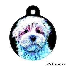 Malshi Puppy-Shihtzu/Maltese Personalized Pet ID Tag for Dog Collars & Harnesses
