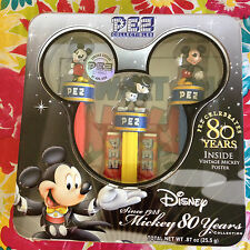 Disney Pez Collectibles Mickey Mouse 80 Years Limited Edition Pez Dispensers Tin