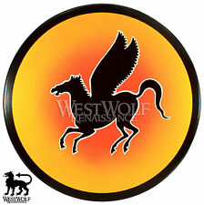 Round GREEK PEGASUS SHIELD -- sca/larp/medieval/spartan/wooden/horse/armor