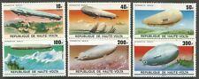 STAMPS-UPPER VOLTA. 1976. Zeppelin 75th Anniversary Set. Mi: 626/31. MNH