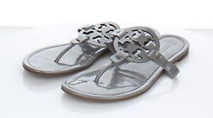 97-78 $198 Women's Sz 8 M Tory Burch Miller Patent Leather Flip Flop Sandals