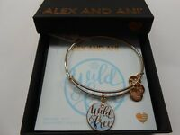 Alex and Ani Wild and Free Bangle Bracelet Color Infusion Shiny Rose NWTBC