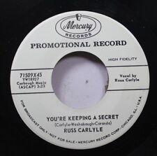 50'S & 60'S Promo Nm! 45 Russ Carlyle - You'Re Keeping A Secret / Studola Pumpa