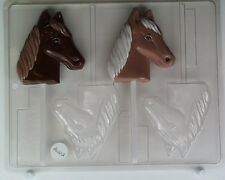 HORSE HEAD LOLLIPOP CHOCOLATE CANDY MOLD DIY PARTY FAVORS EVENTS DERBY