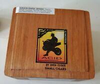 Acid Blonde C-NOTES EMPTY Wood Wooden Cigar Box Drew Estates 440095-40819