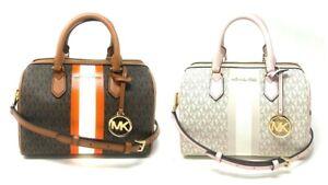 Michael Kors Bedford Small Duffle Satchel Leather Crossbody Bag