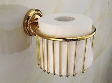 Gold Color Brass Wall mounted bathroom toilet tissue Paper roll holder fba609