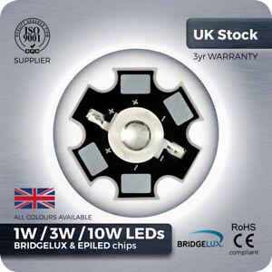 1W 3W 10W LED Component Grow Light red green royal blue UV IR white bead on PCB