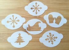 SET of 6 Christmas Snow Face Painting stencils wash/reuse for just £8 BARGAIN