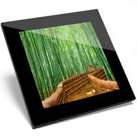 1 x Awesome Japan Bamboo Forest Art Glass Coaster - Kitchen Student Gift #14168