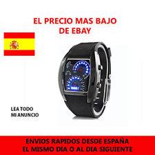 Reloj Para Hombre Led Rpm Aviator Velocimetro Digital Sport Azul Aviador Negro