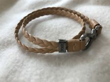 tods Braided Leather Bracelet