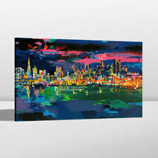 Art Painting Print LeRoy Neiman City By The Bay Home Wall Decor on Canvas 24x36
