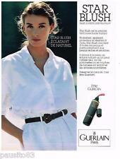 PUBLICITE ADVERTISING 095  1989  GUERLAIN  cosmétiques fond de teint STAR BLUSH